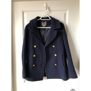 J.Crew Stadium Cloth Navy Blue Peacoat